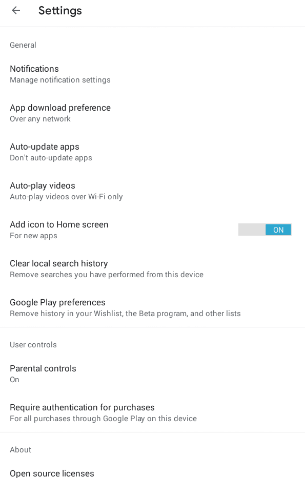 Tap on App Download Preference