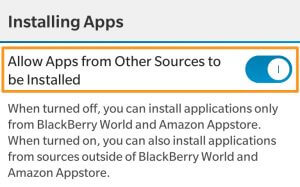 Allow Third-Party App installation