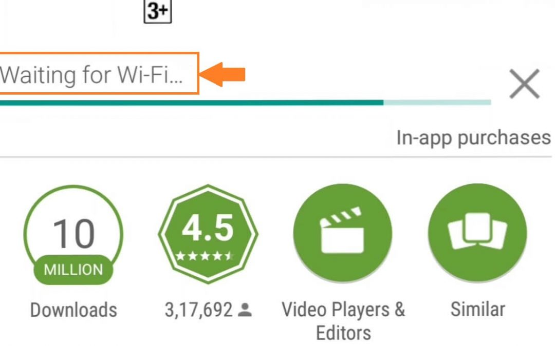 Google Play Store Waiting for WiFi