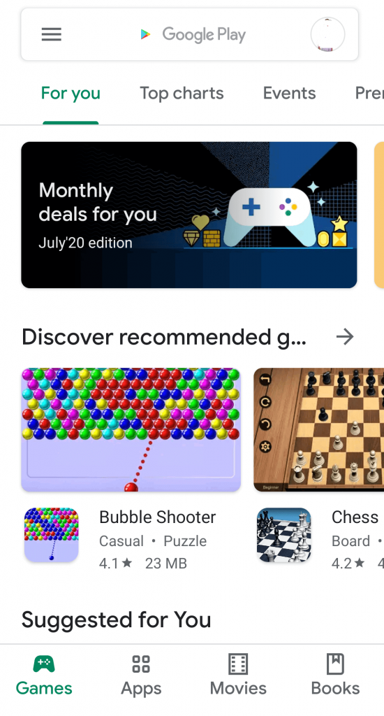 Play Store on Android