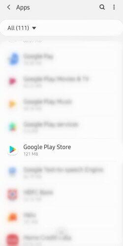 Select Google Play Store