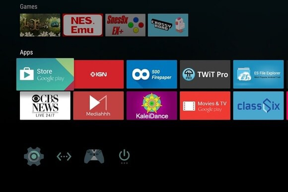 Select Play Store on Android TV