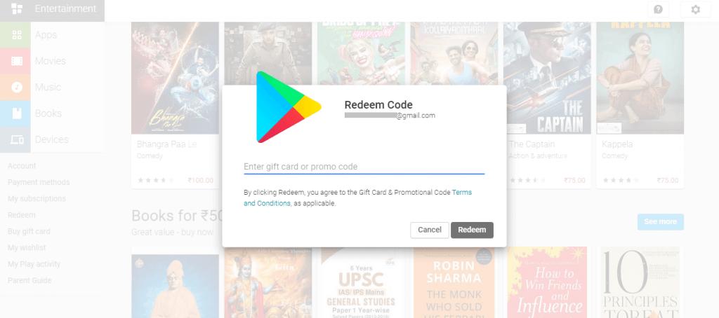Redeem Code Play Store Gift Card Code